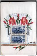 CARTE FAITE MAIN  -FLEURSE REALISEES AVEC DES TIMBRES - Cartes Postales