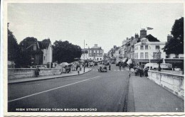 BEDS - BEDFORD - HIGH STREET FROM TOWN BRIDGE Bd57 - Bedford