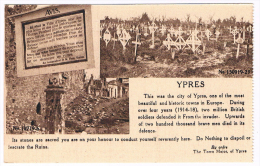 Ypres AVIS   Ici Etait  La Ville D´Ypres .... This Was The City Of Ypres.... - Ieper