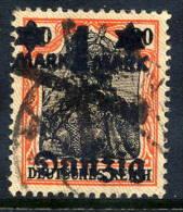 DANZIG 1920 1 Mk. On 30 Pfg. Lilac Burelage,  Postally Used, Expertised.  Michel 41 I - Danzig