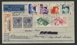 NETHERLANDS, AIRPOSTCOVER 1932 TO BORNEO, GOOD FRANKING - Briefe U. Dokumente