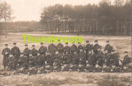 CARTE DE PHOTO JULIEN CREPIEUX CAEN GROUP DE SOLDATS MILITAIRES GUERRE TIR A LA CARABINE - Caen