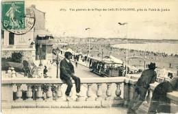 CP, 85, Vue Générale De La Plage Des Sables D'Olonne Prise Du Palais De Justice, Ecrite - Sables D'Olonne