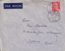 BAS RHIN - WASSELONNE LE 28-1-1947 SUR 5F GANDON - ENVELOPPE POUR UN MILITAIRE A ZAGHOUAN TUNISIE. - Storia Postale