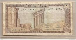 Libano - Banconota Circolata Da 1 Livres P-61c - 1980 - Libano