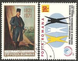 Romania 1971 Usato - Mi.2906/07  Yv.2592/93 - 1948-.... Republiken