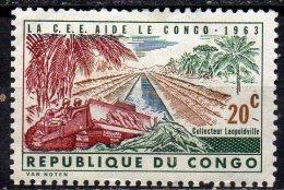 CONGO 1963 European Economic Community Aid - 20c Kabambare Sewer, Leopoldville MH - Republik Kongo - Léopoldville (1960-64)
