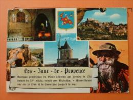 V9-A-13-bouches De Rhone-les Baux Ce Provence-eglise- Vue- Tour-moulin-vieu Berger-5 Vues-histoire--1970 - Les-Baux-de-Provence