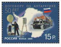 Russia - 2009 - Nuovo - Esplorazione Antartica - Mi N. 1611 - Ongebruikt