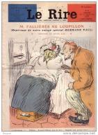 REVUE LE RIRE - OCTOBRE 1907 - N° 245 - M. FALLIERES AU LOUPILLON  - DRAPEAU - ILLUSTREE PAR HERMANN-PAUL , ETC ... - Livres, BD, Revues