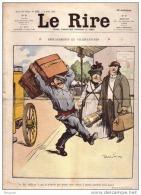 REVUE LE RIRE - MARS - 1907 - N° 235 - DEMENAGEMENT - TRENTE CINQ DEGRES - ILLUSTREE PAR FAIVRE , DELAW ,ç ETC .. - Livres, BD, Revues