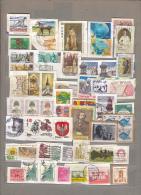 WORLDWIDE MONDE WELT Used Obliteres Gestempelt (o) Modern Stamps On Paper #16725 - Timbres