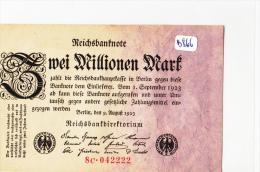 Billets - B866-  Allemagne   - Billet Zwei  Millionen   Mark 1923 ( Type, Nature, Valeur, état... Voir Scan) - 2 Millionen Mark