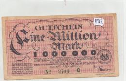 Billets - B862-  Allemagne   - Gutschein  Annaberg Ein Million Mark 1923 ( Type, Nature, Valeur, état... Voir 2scans) - Zwischenscheine - Schatzanweisungen