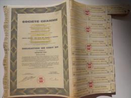 Obligation De Cent NF De La Société Gramme 1960 - Banque & Assurance