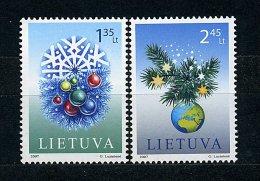 Lituanie** N° 829/830 - Noël - Litauen