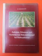 """Dr. Werner Bergmann """"Auftreten, Erkennen Und Verhüten Von Nährstoffmangel Bei Kulturpflanzen"""" Signiert Und Widmung - Bücher, Zeitschriften, Comics"""