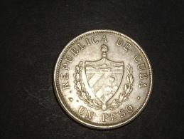 Un Peso  1932  Argent 25 Grammes - Cuba