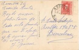3606. Postal AZCOITIA (Guipuzcoa) 1926. Romantica - Cartas