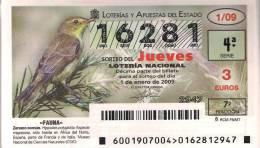 AÑO COMPLETO DE LOTERIA NACIONAL DEL JUEVES DEL 2009 - Billetes De Lotería