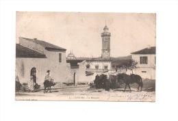 GUELMA , La Mosquée , âne , Chevaux , Algérie , En L´état (voir Les 3 Scans) , Circulée 1902 - Guelma