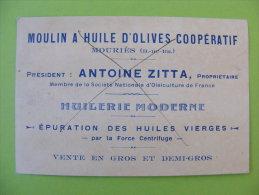 Carte Pub - Moulin à Huile D'olives Coopératif - Zitta Mouriès (13) - Un Pli - Advertising