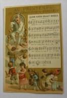 Chromo Au Printemps Bordeaux Chanson Quand Biron Voulut Danser - A Brouillaud Partition Musique Instrument Violon H.Laas - Chromos