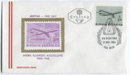 AIRMAIL, FLUGPOST - IFA, Wien, Austria, 1968. FDC - Poste