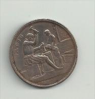 BELGIQUE - Monnaie De Bruxelles 1910 - Médaille Imprimerie Cuivre - 28 M/m - Jadis -Aujourdhui - Belgio