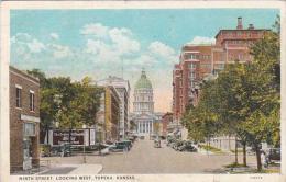 Kansas Topeka Ninth Street Looking West 1926