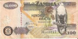 BILLETE DE ZAMBIA DE 100 KWACHA DEL AÑO 2006     (BANKNOTE) PAPEL - Sambia