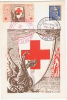21/4/1947 - CPA Numérotée - PARIS - Croix Rouge - Exposition Art & Philatélie  + Vignette Assortie - Croix-Rouge