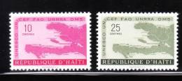 Haiti 1958 Map Of Haiti 2v MNH - Haïti