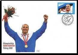 Olympic. 2008 Estonia  Stamp FDC Gerd Kanter, Olympic Gold Medallist Mi 623 - Estland