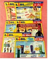 6 X Lidl Reklame Prospekte 2004 / 2005   - Insgesammt  Ca. 48 Seiten Großformat - Reklame