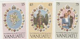 Vanuatu-1981 Royal Wedding 308-310 MNH - Vanuatu (1980-...)
