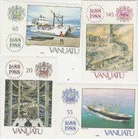 Vanuatu-1988 Lloyds 300th Anniversary 485-488 MNH - Vanuatu (1980-...)