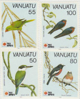 Vanuatu-1991 Phila Nippon 91 Birds 542-545MNH - Vanuatu (1980-...)