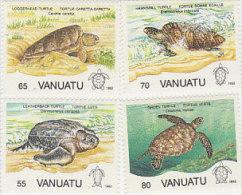 Vanuatu-1992 Turtles 577-580  MNH - Vanuatu (1980-...)