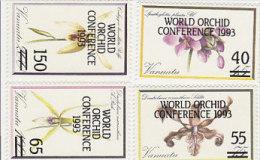 Vanuatu-1993 World Orchids Conference 586-589 MNH - Vanuatu (1980-...)