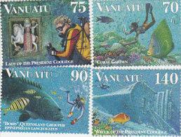 Vanuatu-1997 Diving 693-696  MNH - Vanuatu (1980-...)