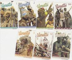 Vanuatu-1999 Ceremonial Dancers 746-752 MNH - Vanuatu (1980-...)