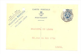 Carte Lettre - Sucrerie NAVEAU à HOLLOGNE Sur GEER 1934 (b120) - Geer