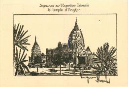 Cambodge - Le Temple D'Angkor - Illustrateur, éditeur; Auguste Blache - CPA En PARFAIT ETAT (voir 2 Scans). - Cambodia