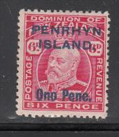 Penrhyn Isl.  Scott No 15  Unused Hinged  Year 1914 - Penrhyn