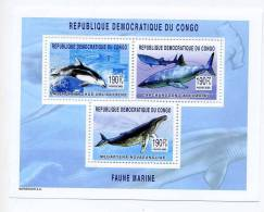 Dauphin-Baleine-Requin-Co Ngo RD-B248***MNH-Petit Tirage - Meereswelt