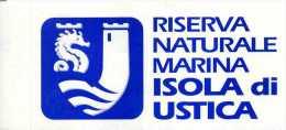 X Adesivo Stiker Etiqueta RISERVA NATURALE MARINA ISOLA DI USTICA CM. 6 X 12 - Non Classificati