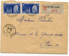 HAUTE VIENNE De PEYRILHAC Enveloppe  Recommandée De   1950 - 1921-1960: Moderne