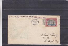 Etats Unis -  1er Vol Route AM 33 - El Centro California - Lettre De 1932 - Cachet Spécial  Très Difficile à Voire - Etats-Unis