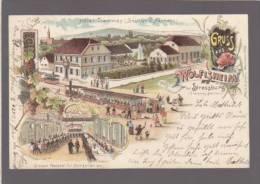 Gruss Aus Wolfisheim - Bei Strasbourg - Tramway Station - Hotel Tramway - Pionniere Chromolithographie - Strasbourg